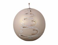 Sviečka sviatočných VIETOR GUĽA vianočné metalická matná d8cm