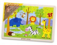 Puzzle safari dřevěné 24 ks