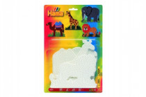 Podložka na zažehlovací korálky - slon,žirafa,lev,velbloud 19x20cm