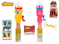Cosby zvířátko 25 cm na baterie se světlem s cukrovinkou a samolepkou - 12 ks - mix variant či barev