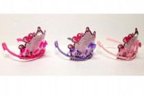 Sada krásy pre princeznú plast čelenka 13cm 3 druhy