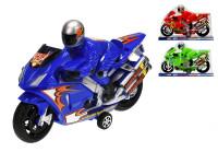 Motorka 27 cm s řidičem na setrvačník - mix barev