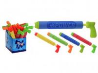 pištole striekacie na vodu 39x5cm detská - mix farieb