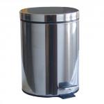 koš odpadkový nášlapný 12l kulatý nerez, s vložkou plastový