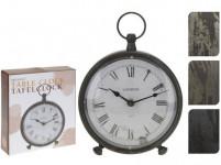 hodiny stolní BUDÍK pr.16,5x20cm kov - mix barev