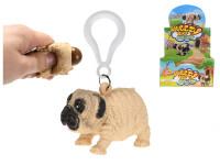 Prívesok na kľúče bulldog strečový 5,5 cm