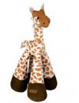 Hračka pes Žirafa pískacie plyšová 33cm TR