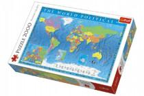 Puzzle Politická mapa sveta 2000 dielikov 96x68cm