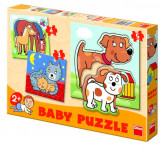 Puzzle baby zvířátka 18x18cm 12 dílků