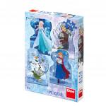 Puzzle Frozen / Ľadové kráľovstvo 4x54 dielikov 13x19cm