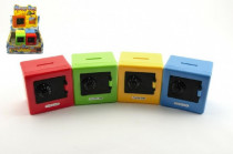 Pokladnička trezor plast 8,5 cm - mix barev
