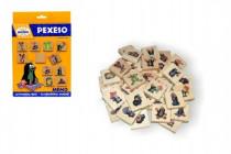 Pexeso Krtek společenská hra 40 dřevěných kamenů