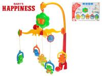 Kolotoč nad postýlku medvídci 58x48 cm na baterie se zvukem Baby´s Happiness
