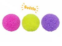 Loptička brmbolce 6 cm na batérie so svetlom - mix farieb