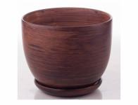 Obal na květník PURKYNĚ WOOD keramický matný d16x13cm