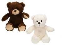Medveď plyšový 25 cm sediaci - mix farieb