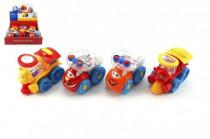 Auto/vlak plast veselé s kuličkami 10cm volný chod 12m+ - mix variant či barev