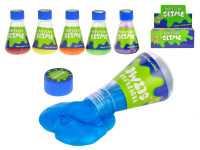Sliz s kovovým leskom v laboratórnej fľaši - mix farieb