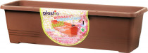 Plastia truhlík samozavlažovací Bergamot - čokoládový 60 cm