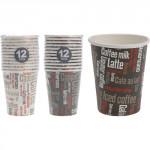 kelímek na kávu 100ml papír. dekor KÁVA (12ks), jednorázový