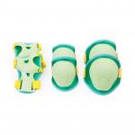 Spokey Buffer 3-dílná sada dětských chráničů, zelené, vel. XS