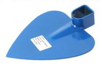 Motyka bez násady - srdcová - modrá