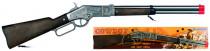 Puška kovbojská strieborná kovová - 8 rán