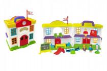Domček škola s doplnkami plast