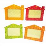 rámeček na FOTO 23x18cm DOMEČEK keramický - mix variant či barev