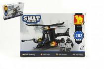 Stavebnice Dromader SWAT Policie Vrtulník 202ks plast