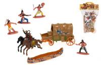 Sada figúrok 6 ks 6 cm indiáni a kovboji s doplnkami - mix variantov či farieb
