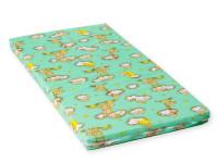 Dětská matrace 120x60x6 cm, molitan, zelená, Cuculo