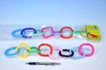 Reťaz / zábrana 8 tvarov plast v sáčku 0m +