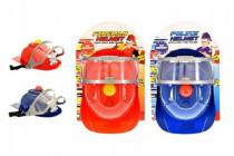 Helma přilba hasiči/policie 26x18cm na baterie se zvukem se světlem - mix barev
