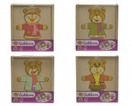 Dřevěná skládačka medvídek - mix variant či barev