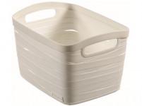 košík RIBBON 27,5x20,5x17,5cm (S) plastový, bi