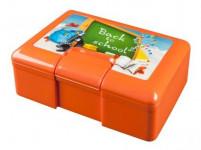 box desiatový 19,5x12,5x7cm s klick uz. s potlačou plastový - mix variantov či farieb