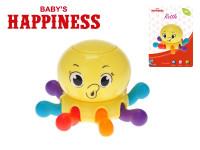 Chobotnice pískající 7x10 cm pohyblivá chapadla/otočná hlava Baby´s Happiness
