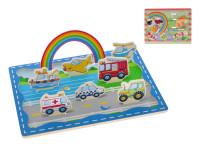 Hrací set drevený 3D 30x22,5 cm - mix variantov či farieb