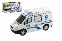 Auto polícia plast 20cm narážacie na batérie so zvukom so svetlom