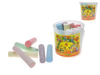 Farebné kriedy chodníkové 10,5cm - mix farieb