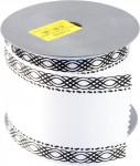 Stuha Smútočný textilné - 8 cm x 9,14 m biela