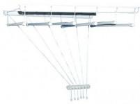 sušiak stropový IDEAL 170cm 6 tyčí plastový + kov. Bi