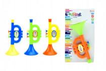 Trumpeta plast 23cm na karte 18m + - mix farieb
