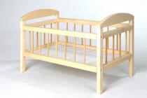 Postieľka drevená pre bábiky veľká 59 cm
