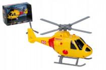 Helikoptéra / vrtuľník záchranársky plast 20cm na batérie so svetlom so zvukom