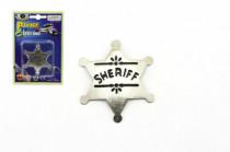 Šerifská hviezda odznak kov 6cm