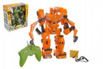Robot / transformer RC plast 33cm na batérie / USB so zvukom a svetlom - mix farieb