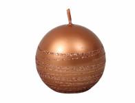 Sviečka ANDROMEDA GUĽA vianočné d6cm