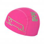 Spokey TRACE JUNIOR Plavecká čepice nylon, logo pejsek růžová